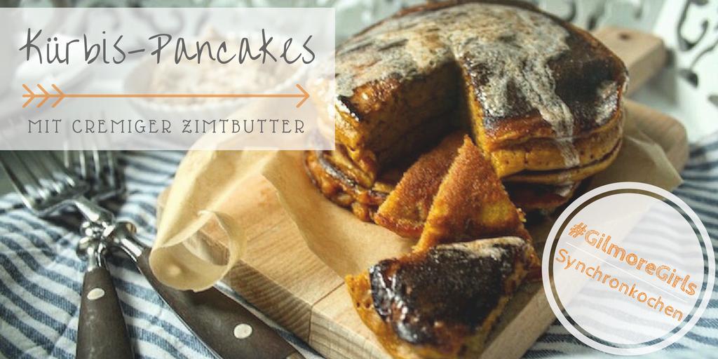Kürbis-Pancake mit Zimtbutter - EIn Häppchen Liebe