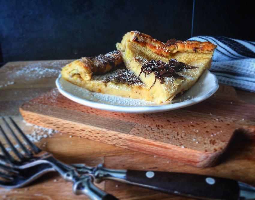 Dutch Baby - Ofenpfannkuchen mit Bananen - Ein Häppchen Liebe