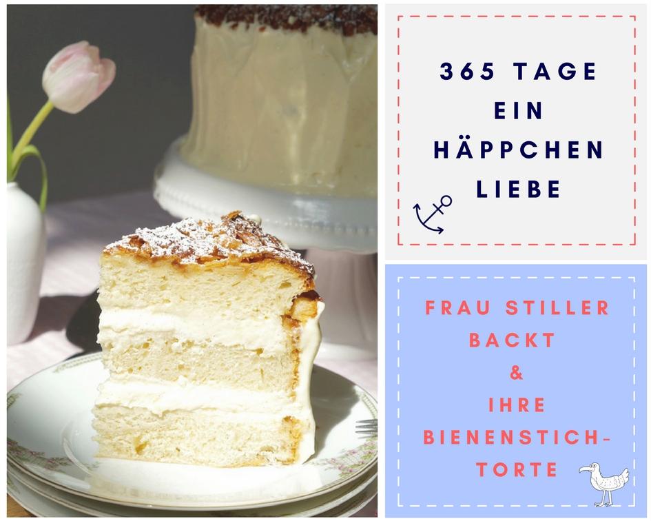 Bienenstich-Torte - Frau Stiller backt - Ein Häppchen Liebe - Blog-Geburtstag
