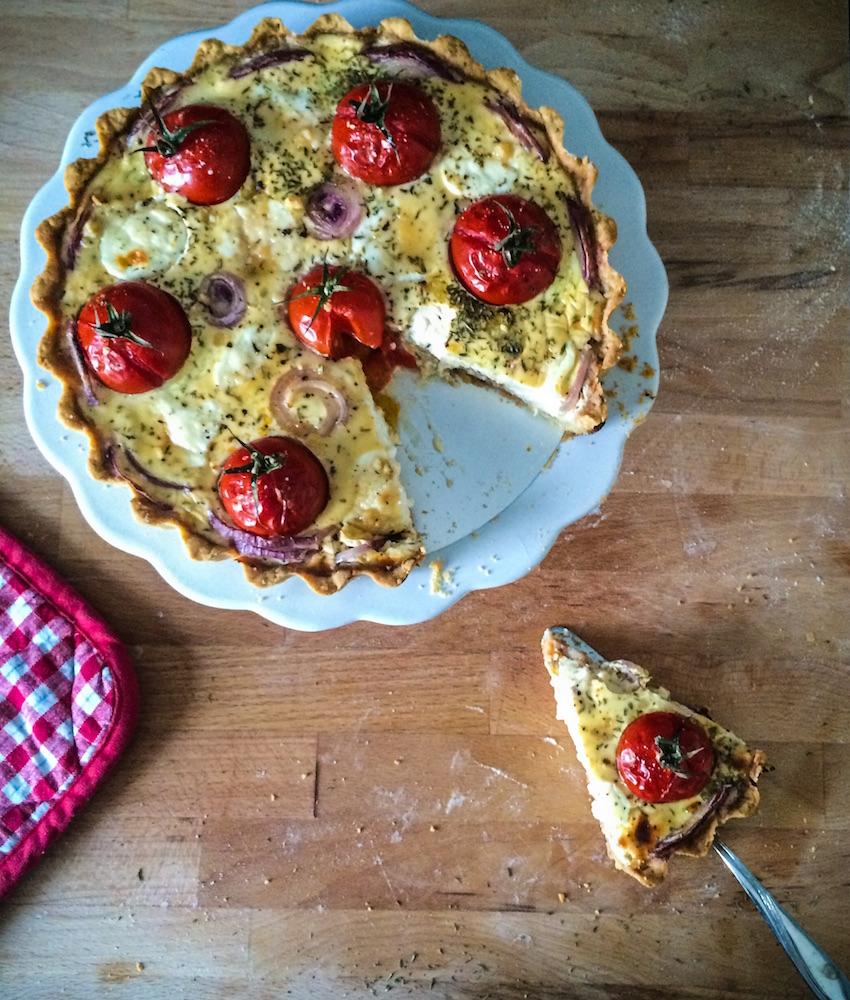 Ziegenkäse-Tomaten-Quiche - Ein Häppchen Liebe