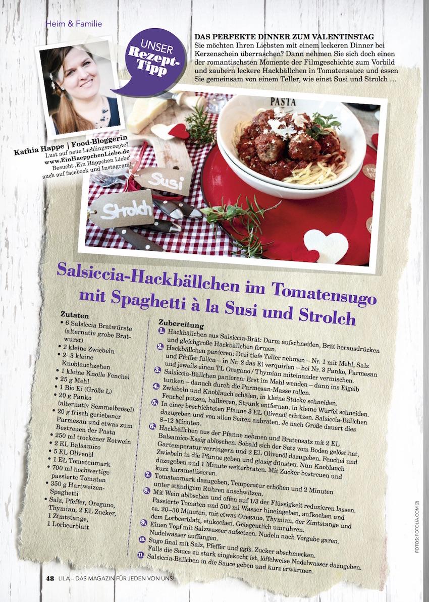 Spaghetti mit Polpette und Tomaten-Sugo - Ein Häppchen Liebe