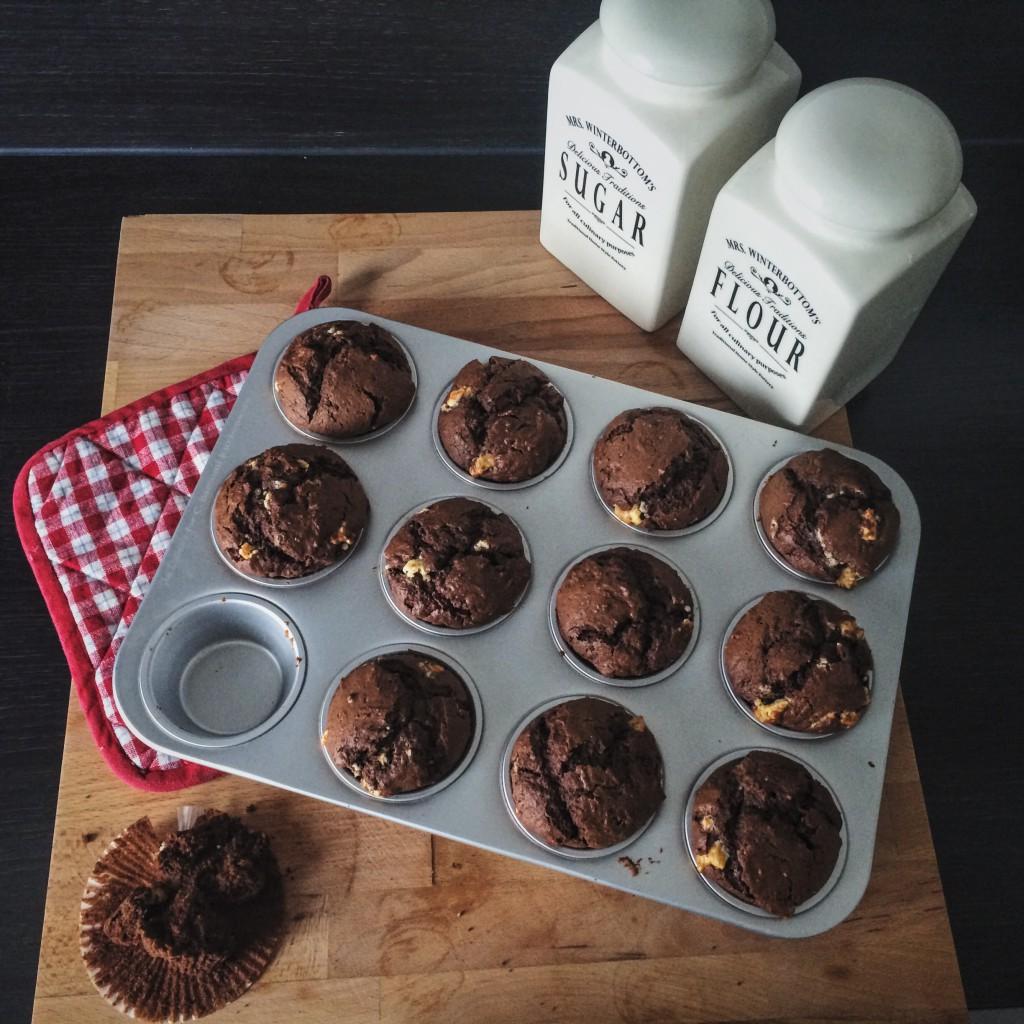 Triple Chocolate Chip Muffins - Ein Häppchen Liebe