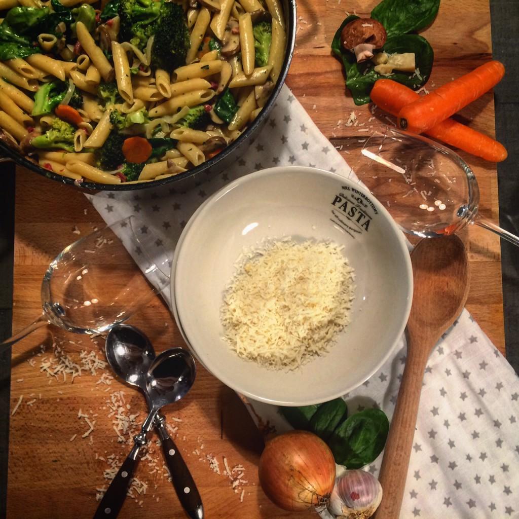 One Pot Pasta Primavera - Ein Häppchen Liebe